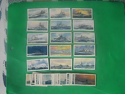 Cigarette Cards  Players  Modern Naval Craft   Full Set 50No.