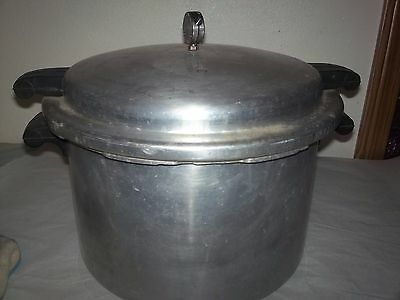 Vintage Mirro Matic 16 Qt Pressure Cooker Canner