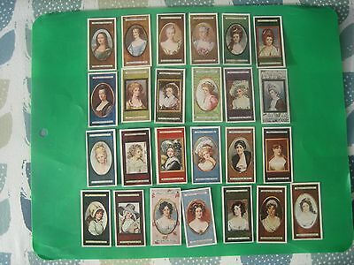 CIGARETTE CARDS  PLAYERS   MINIATURES  FULL SET of 25no.  GD+ to VG