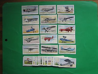 CIGARETTE CARDS  PLAYER  AEROPLANES (CIVIL)  FULL SET of 50no.   G+ to VG