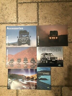 Land Rover Defender Sales Brochures - Lot Of 6 Different Types