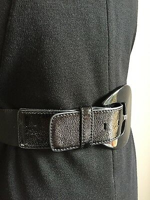 ladies black leather belt from Oasis size L