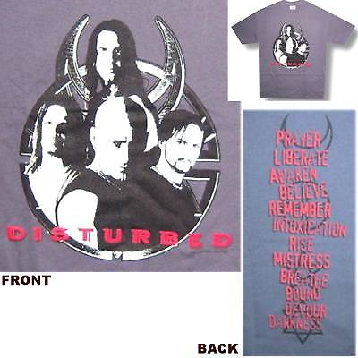 """Disturbed """"music Within"""" Believe Song Titles Grey T-Shirt 2Xl Xxl New Sale"""
