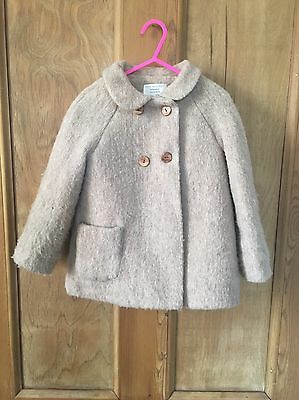 ZARA KIDS Girls Smart Camel Coat Jacket Age 3-4