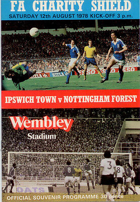 1978-79 Ipswich Town v Nottingham Forest FA Charity Shield played at Wembley