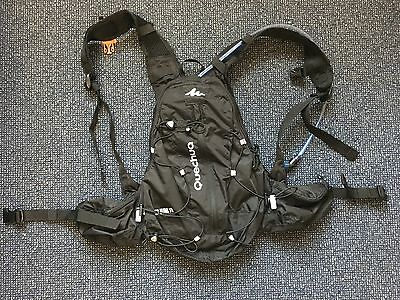 Quechua Helium 10L Trail Running Backpack in Black with Hydration Pack