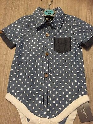 Baby Boys Shirt-with Poppers-6-9months