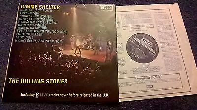 The Rolling Stones - Gimme Shelter Vinyl Lp 1971 The Decca Record Co.,