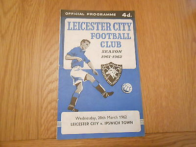 Leicester City V Ipswich Town  28/3/1962
