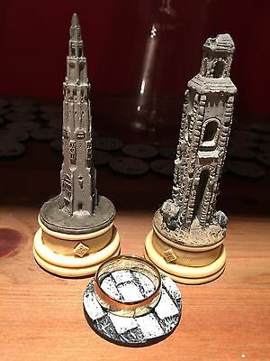 Warhammer Lord Rings 3 X Objective Markers Inc. The One Ring LOTR Painted