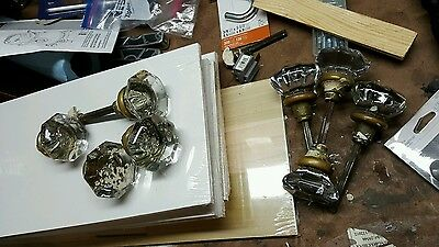 Vintage Antique Glass Door Knobs (8)