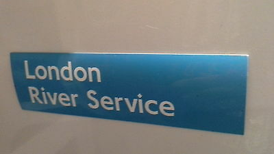 London Underground magnetic sign. London River Service.