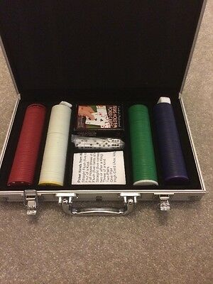 Poker Set In Metal Carry Case
