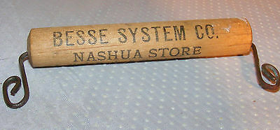 Antique Tie Hanger With Store Advertising Besse System Co Nashua NH Store