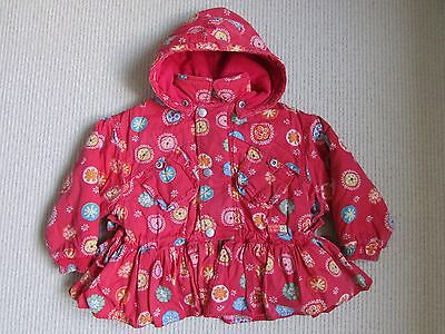 Lapagayo Oilily Girls Red Flower Winter Coat 2 Years - Good Condition