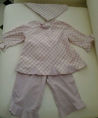 Girls 3 Piece Top, Trousers And Head Scarf Age 3