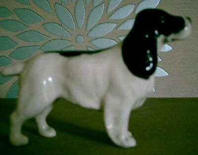 BESWICK DOG COCKER SPANIEL MODEL No. 1754 BLACK AND WHITE GLOSS PERFECT