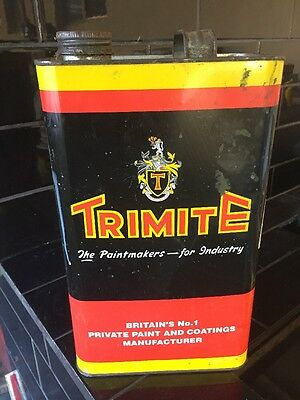 Trimite Paint Oil Thinners 1 Gallon Collectable Tin