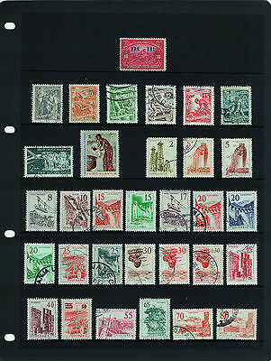 61 POSTAGE STAMPS – YUGOSLAVIA – 1921 TO 1974 – 2 x HAGNER SHEETS