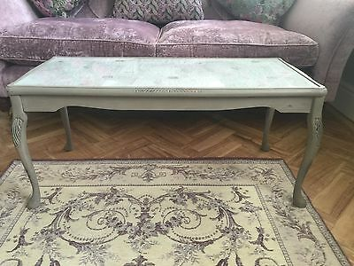 Shabby Chic Vintage Restored Coffee Table. Bristol. Grey Paint Annie Sloan.