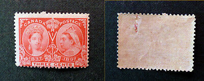Canada 1897 3c Jubilee stamp, mint, full gum, see details