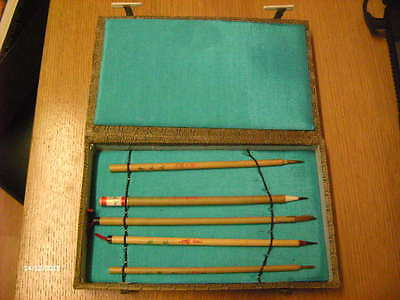 Oriental Chinese / Japanese writing set in decorative box