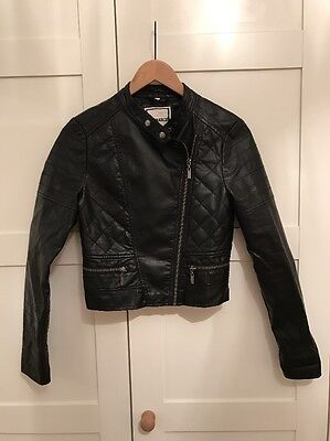 Girls New Look Leather look Jacket Age 12-13