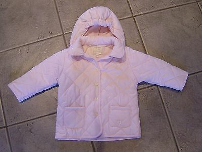 Lovely girls Emili Et Rose pink quilted coat jacket age 9M 6-9 months