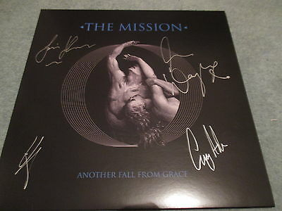The Mission Another Fall From Grace Lp Fully Signed