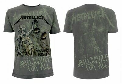 Official Metallica - Justice Neon All-Over - Men's Charcoal T-Shirt