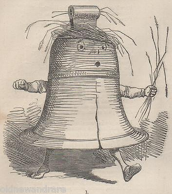 Genuine 1859 Print Bell Ringing Campanology Foundry Cast Rope Tower Big Ben