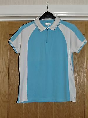Green Lamb Blue And White Polo Shirt Size 12 - Golf