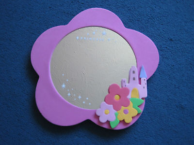 Children's princess pink mirror - safety mirror and foam outer
