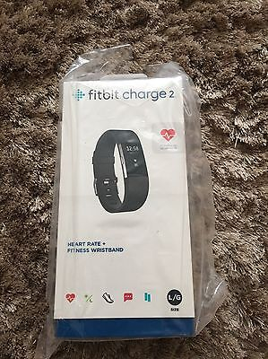 FitBit Charge 2 - Black - Size Large. Heart Rate & Fitness Monitor. BNIB