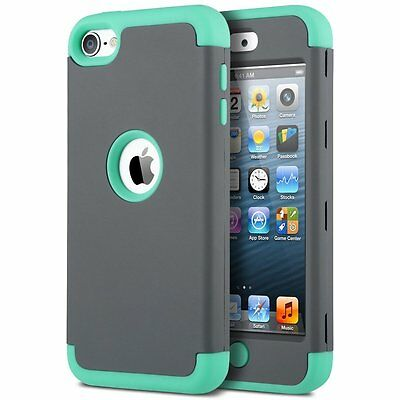iPod Touch 5th/6th Generation Case, ULAK Hybrid 3 Layer Silicone Shell Hard Case
