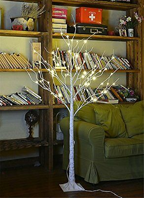 Lightshare? NEW 4FT 48L LED Birch Tree,Home/Festival/Party/Christmas,Indoor and