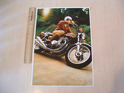 Kawasaki Z1-A 1974 Action Poster From Nos 1974 Original