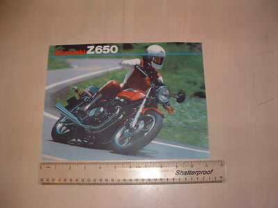 Kawasaki Z650 F3 Brochure From Nos 1983 Original