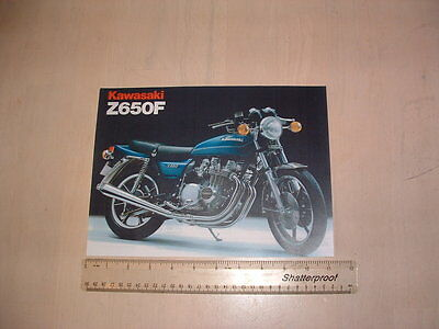 Kawasaki Z650 F1 Brochure From Nos 1980 Original