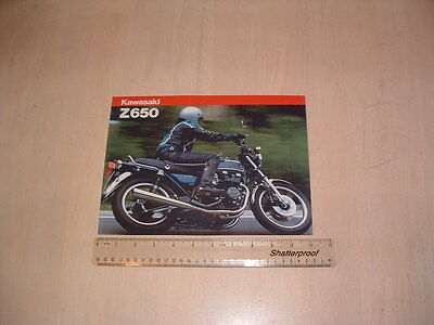 Kawasaki Z650 F2 Brochure From Nos 1981 Original