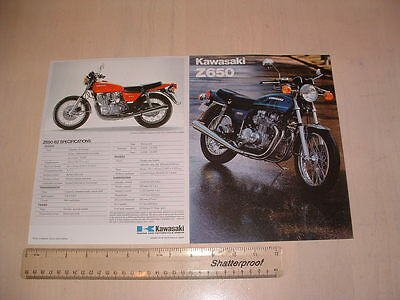 Kawasaki Z650 B2 Brochure From Nos 1978 Original