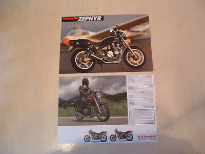 Kawasaki Zephyr 550 Brochure From Nos 1991 Original