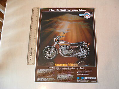 Kawasaki Z1 Definitive Machine Poster From Nos 1975 Original