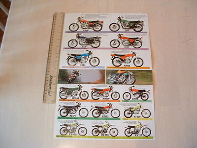 Kawasaki 1977 Bike Range  Poster From Nos Original**z1000,z650,z750,kh250,400**