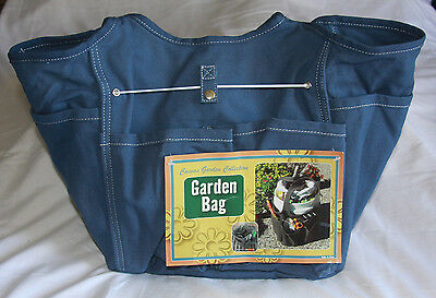 Canvas Garden Collection Bag Blue Tote New With Tags