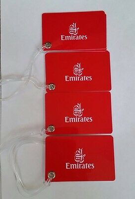 Brand New Emirates Airways Luggage Tags X 4 Airbus Boeing