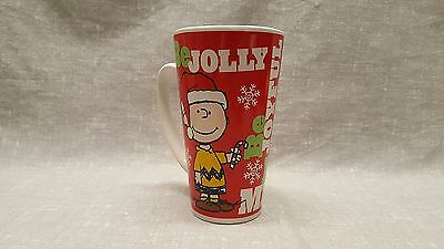 Peanuts Charlie Brown Snoopy and Woodstock Holiday Christmas Tall Coffe Mug Cup