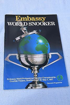 Embassy World Snooker Championship 1987 - EXCELLENT