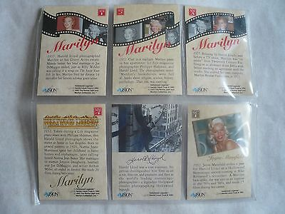 Marilyn Monroe Hologram Trading Card Set,Cert of Authenticity plus extra