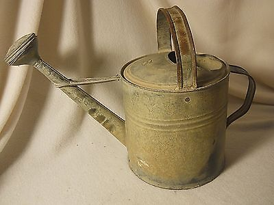 Primitive Old Watering Can-Works-Unusual Spout-Planter